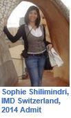 IMD Sophie Shilimindri